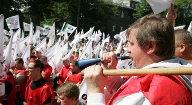Górnicy demonstrowali w obronie kopalni Halemba-Wirek