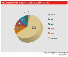 Udział w polskim rynku ubezpieczeń naleśności w 2009r. (w proc.)