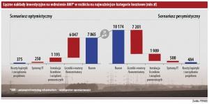 Łaczne nakłady inwestycyjne na wdrozenie AMI* w rozbiciu na najwazniejsze kategorie kosztowe (mln zł)