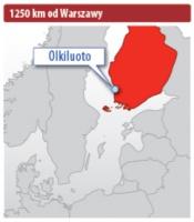 Fińska Elektrownia Jądrowa Olkiluoto znajduje się w linii prostej 1250 km od Warszawy.