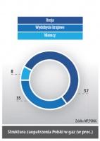 Struktura zaopatrzenia Polski w gaz (w proc.)