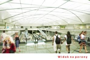 Widok na perony (Fot. UM Łódź)