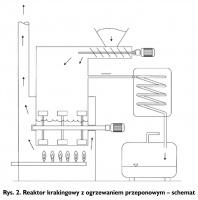 Rys. 2. Reaktor krakingowy z ogrzewaniem przeponowym - schemat