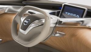 """Tablet za kierownicą spełnia funkcję """"kluczyka"""", systemu multimedialnego, wyświetlacza wielofunkcyjnego i ..... tabletu / foto: Nissan"""