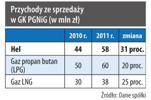 Przychody ze sprzedaży w GK PGNiG (w mln zł)