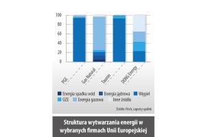Struktura wytwarzania energii w wybranych firmach Unii Europejskiej