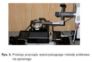 Rys. 4. Prototyp przyrządu wykorzystującego metodę próbkowania spiralnego