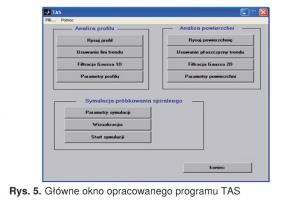 Rys. 5. Główne okno opracowanego programu TAS