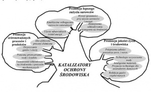 Rys.1. Drzewo przedstawiające rolę katalizy w promowaniu środowiska [4]
