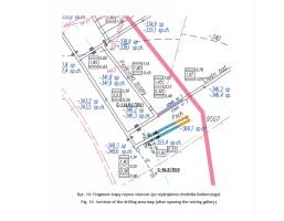 Rys. 10. Fragment mapy rejonu wierceń (po wydrążeniu chodnika badawczego)
