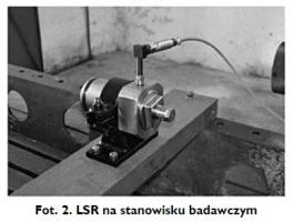 Fot. 2. LSR na stanowisku badawczym