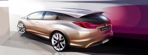 Kombi-Koncept Hondy Civic pokazany zostanie dopiero na salonie w Genewiei / graf: Honda