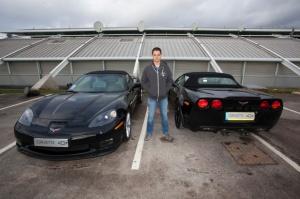 Javier Hernandez i wybrana przez niego Corvette / foto: Chevrolet