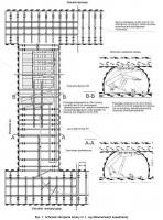 Rys. 1. Schemat zbrojenia ściany nr 1, wg dokumentacji kopalnianej