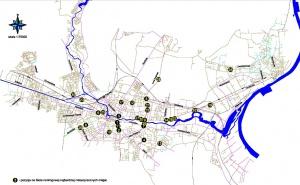 5.  Mapa czarnych punktów na sieci drogowej miasta