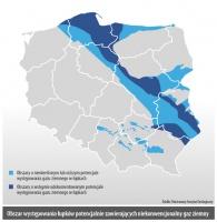 Obszar wystepowania łupków potencjalnie zawierajacych niekonwencjonalny gaz ziemny