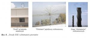 """Rys. 8. """"Zwody ESE i eliminatory piorunów"""