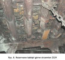 Rys. 8. Rozerwane kabłąki górne strzemion ZS29 Fig. 8. Torn upper bows of the ZS29 shackle