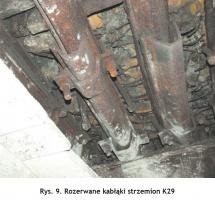 Rys. 9. Rozerwane kabłąki strzemion K29 Fig.9. Torn bows of the K29 shackles