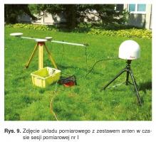 Rys. 9. Zdjęcie układu pomiarowego z zestawem anten w czasie sesji pomiarowej nr I