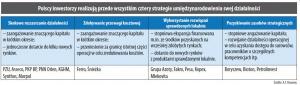 Polscy inwestorzy realizują przede wszystkim cztery strategie umiędzynarodowienia swej działalności
