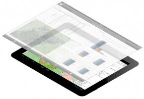 Przykład wykorzystania technologii BI w urządzeniach mobilnych. Dostęp do zasobu możliwy jest zarówno poprzez dedykowane oprogramowanie jak i poprzez wprowadzenie adresu www.