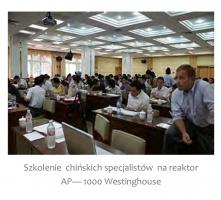 Szkolenie chińskich specjalistów na reaktor AP - 1000 Westinghouse