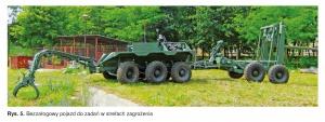 Rys. 5. Bezzałogowy pojazd do zadań w strefach zagrożenia