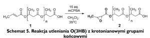 Schemat 5. Reakcja utleniania O(3HB) z krotonianowymi grupami końcowymi