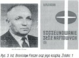 Rys. 3. Inż. Bronisław Fleszer oraz jego książka. Źródło: 1