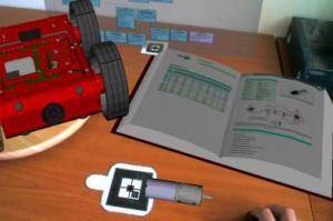 Rys. 2c. Przykładowe zastosowania systemu AR do wspomagania projektowania