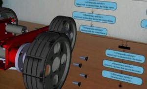 Rys. 3a. Przykładowe zastosowania systemu AR do wspomagania obsługi z użyciem wirtualnych makiet wytworów