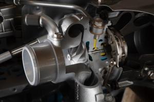 Po raz pierwszy zastosowano sterowanie geometrią kierownicy turbiny za pomocą elektrycznego siłownika. fot. Opel
