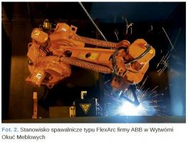 Fot. 2. Stanowisko spawalnicze typu FlexArc firmy ABB w Wytwórni Okuć Meblowych