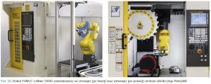 Fot. 10. Robot FANUC LrMate 200iD zainstalowany na zewnątrz (po lewej) oraz wewnątrz (po prawej) centrum obróbczego Robodrill