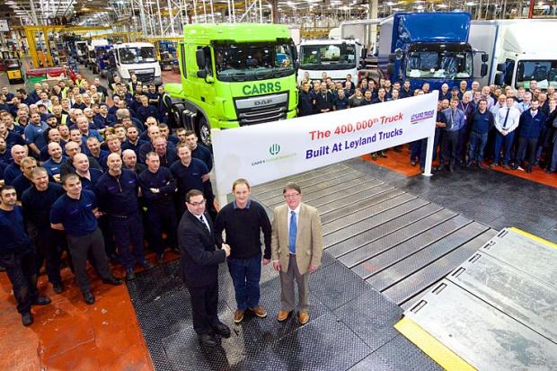 400 tysięcy ciężarówek z zakładu Leyland Trucks