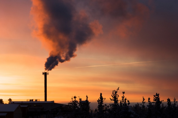 Carbon dioxide under pressure