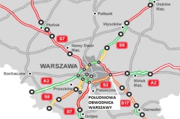 Są kontrakty za 2,5 mld zł na Południową Obwodnicę Warszawy