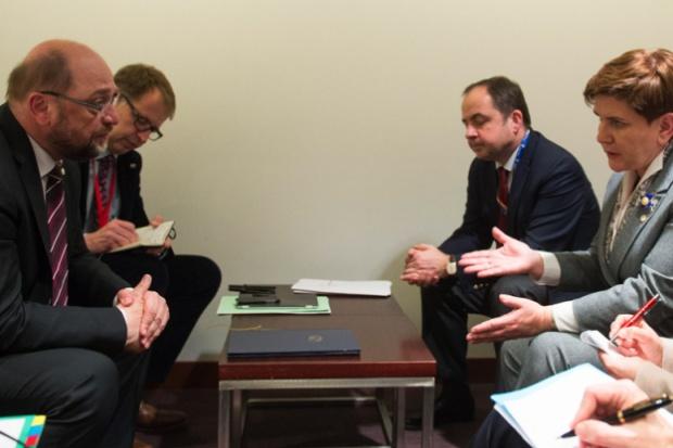 Spotkanie Szydło z Schulzem: rozmowa była konstruktywna
