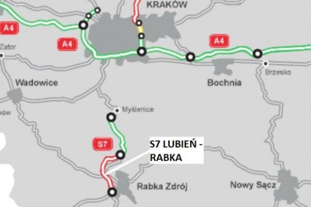 Przetarg na S7 Lubień - Rabka za 615 mln zł rozstrzygnięty