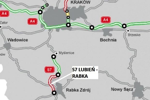Oferty na tunel na S7 Lubień - Rabka warte 1-1,7 mld zł