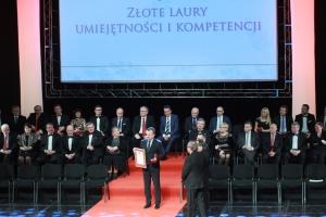 """Złoty Laur Umiejętności w kategorii """"Udany debiut"""" otrzymał Arkadiusz Chęciński – prezydent Miasta Sosnowiec"""