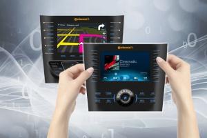 Kluczowym elementem projektu Continentala w zakresie systemów informacyj no-rozrywkowych w samochodzie jest dający się dostosować do konstrukcji auta panel przedni, na którym nie ma żadnych przycisków mechanicznych. fot. Continental