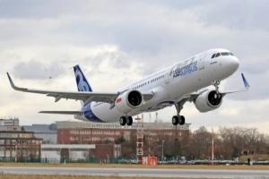 A321neo po raz pierwszy wzbił się w niebo