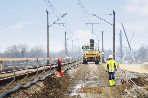 Budimex rozpędza się z budową łącznicy kolejowej w Krakowie