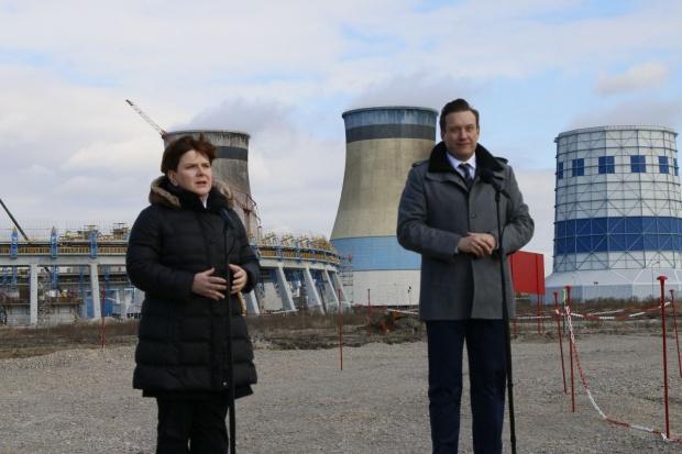 Beata Szydło odwiedziła budowę bloku El. Jaworzno