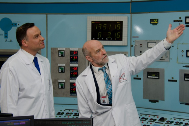 Prezydent zapoznał sięze stanem badań w reaktorze Maria