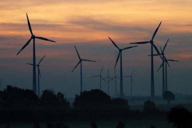 Manifestacja poparcia dla energetyki wiatrowej