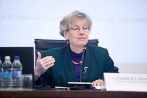 Catherine L. Mann, główna ekonomistka Organizacji Współpracy Gospodarczej i Rozwoju. Fot. PTWP (Paweł Pawłowski)