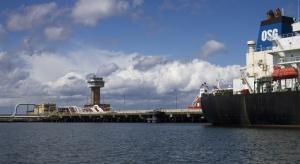 Mniejszy import ropy przez Naftoport